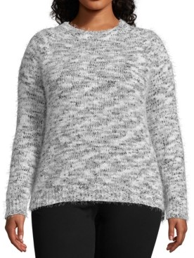 John Paul Richard Plus Size Marled Eyelash Sweater