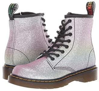 Dr. Martens Kid's Collection 1460 Patent Glitter Junior Delaney Boot (Little Kid/Big Kid) (Rainbow Glitter) Girls Shoes
