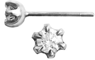 Hargreaves Stockholm Stardust 18Ct Gold & Diamond Single Stone Stud Earrings