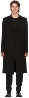 Bottega Veneta Black Cashmere Single Breasted Coat
