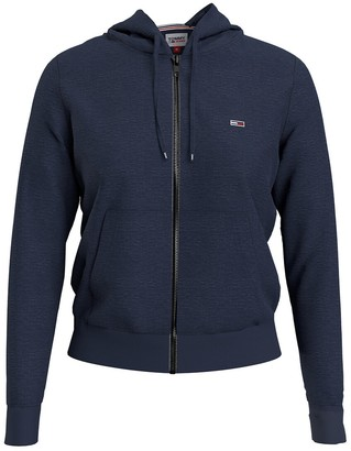 Tommy Jeans Cotton Mix Zip-Up Hoodie with Logo Print