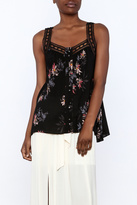 Gentle Fawn Black Floral Sleeveless Blouse