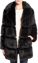 Kate Spade Women's Grooved Faux Fur Coat