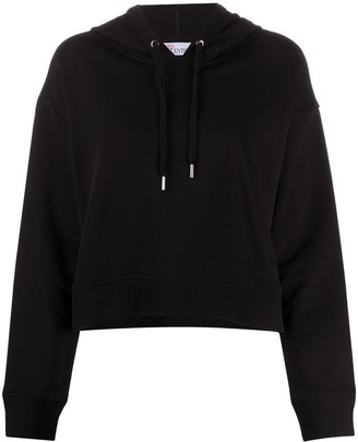 RED Valentino Tulle-Detail Hoodie