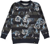Molo Romeo Long-Sleeve Striped Sweatshirt, Size 4-12