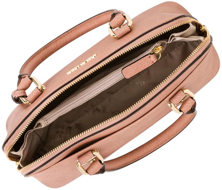 Calvin Klein H7GD17LT Saffiano Zip Top Satchel