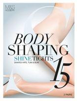 Marks and Spencer 2 Pair Pack 15 Denier Secret SlimmingTM Shine Body Shaper Tights