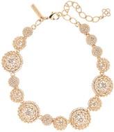 Oscar de la Renta Rose Gold Pavé Crystal Dome Necklace