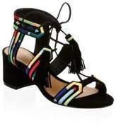 Schutz Liessel Embroidered Leather Sandals