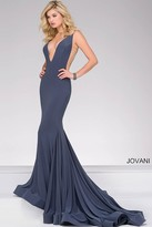 Jovani Plunging Neckline Jersey Prom Dress 46756