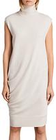 AllSaints Demi Sleeveless Turtleneck Knee Length Dress, White