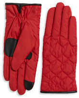 Echo Faux Fur-Lined Quilted Gloves