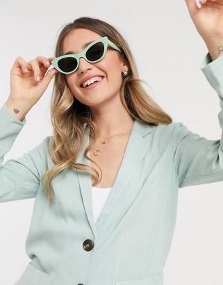 Nobody's Child tailored blazer in pistachio co-ord