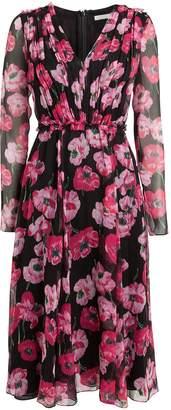 Jason Wu Collection Poppy Floral Crinkle Chiffon Dress