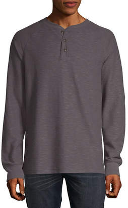 ST. JOHN'S BAY Outdoor Rugged Mens Long Sleeve Henley Shirt
