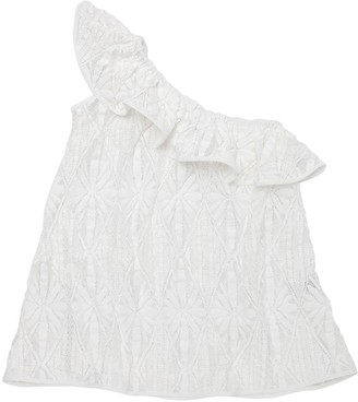 Milly One Shoulder Cotton Crochet Cover Up