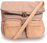 Co-Lab by Christopher Kon Taupe Foldover Crossbody Bag