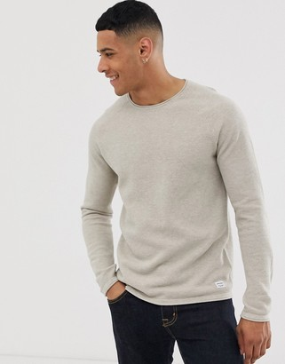 Jack and Jones Essentials raglan sleeve knitted crew neck sweater
