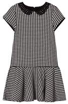 Mayoral Black and White Houndstooth Dress