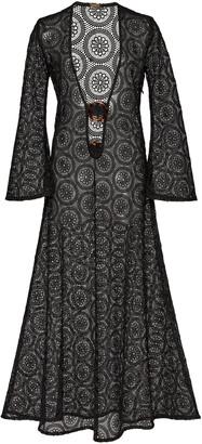 Dodo Bar Or Jane Sheer Lace V-Neck Maxi Dress