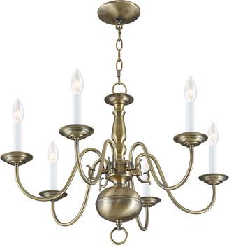 Livex Lighting Livex Williamsburgh 6-Light Antique Brass Chandelier
