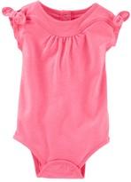 Osh Kosh Baby Girl Bow-Sleeve Bodysuit