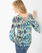 Chico's Ikat Back Detail Tunic