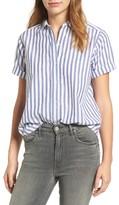 Velvet by Graham & Spencer Women's Stripe Cotton Shirt