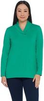 Denim & Co. Essentials Perfect Jersey Shawl Collar Long-Sleeve Top