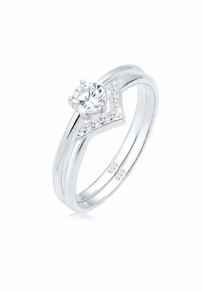 Elli Women's 925 Sterling Silver Solitaire Anniversary Ring P 0603442018_56