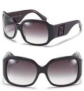 Oversized 3-D Laser Cut Logo Sunglasses