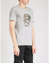 The Kooples Camouflage Skull-print Cotton T-shirt