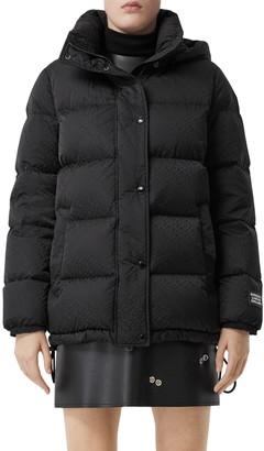 Burberry Sellindge TB Jacquard ECONYL® Down Puffer Coat