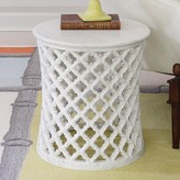 The Well Appointed House Global Views Moroccan Inspired Side Table with Solid Marble Top