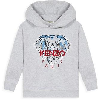 Kenzo Little Boy's & Boy's Elephant Logo Hooded Sweatshirt