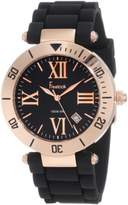 Freelook Men's HA1534RG-1 Silicone Band Dial Rose Gold Bezel Dial Watch