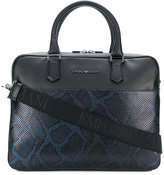 Emporio Armani snake effect laptop bag