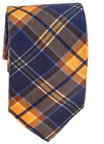 Black Atrani Navy Check Silk Tie