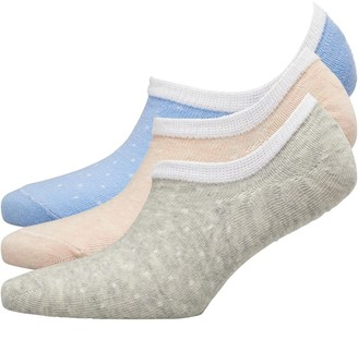 Fruit Cake Fruitcake Womens Invisible Trainer Liners Raised Knit Pattern/Blue Peach Grey