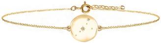 No 13 Cancer Zodiac Constellation Bracelet Yellow Gold & Diamonds