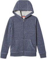 Joe Fresh Kid Boys' Stripe Hoodie, Dark Blue Mix (Size XL)