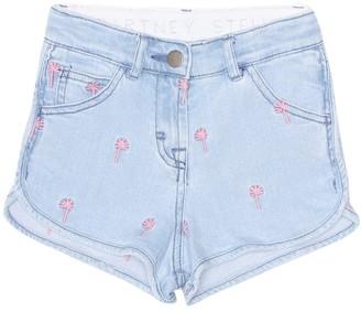 Stella McCartney Embroidered denim shorts