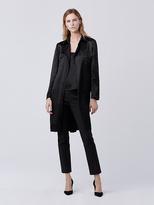 Diane von Furstenberg Blaine Hammered Satin Utility Jacket