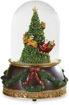 7.75-Inch Musical Santa Around the Tree Glitterdome®
