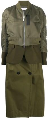 Sacai Layered Mid Length Coat