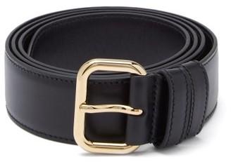 Miu Miu Buckled Leather Belt - Black