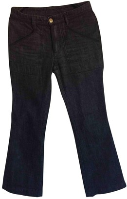 Louis Vuitton Anthracite Cotton Jeans for Women