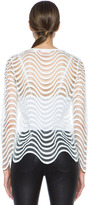 Sass & Bide Honor Among Thieves Nylon Top in Ivory