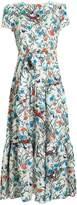 Borgo de Nor Elisa Silk Floral Midi Dress