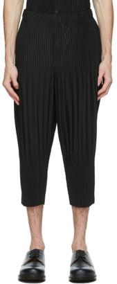 Homme Plissé Issey Miyake Black Cropped Basics Trousers